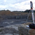 Laser scanner at work in the Nussloch quarry