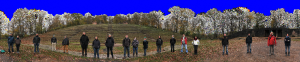 2D-panorama of the group scan point cloud
