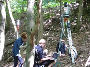Scanning archaeological sites for deriving high-resolution surface models and the detection of archaeological objects.