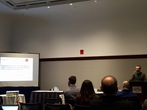 René presenting at the AAG meeting in Boston