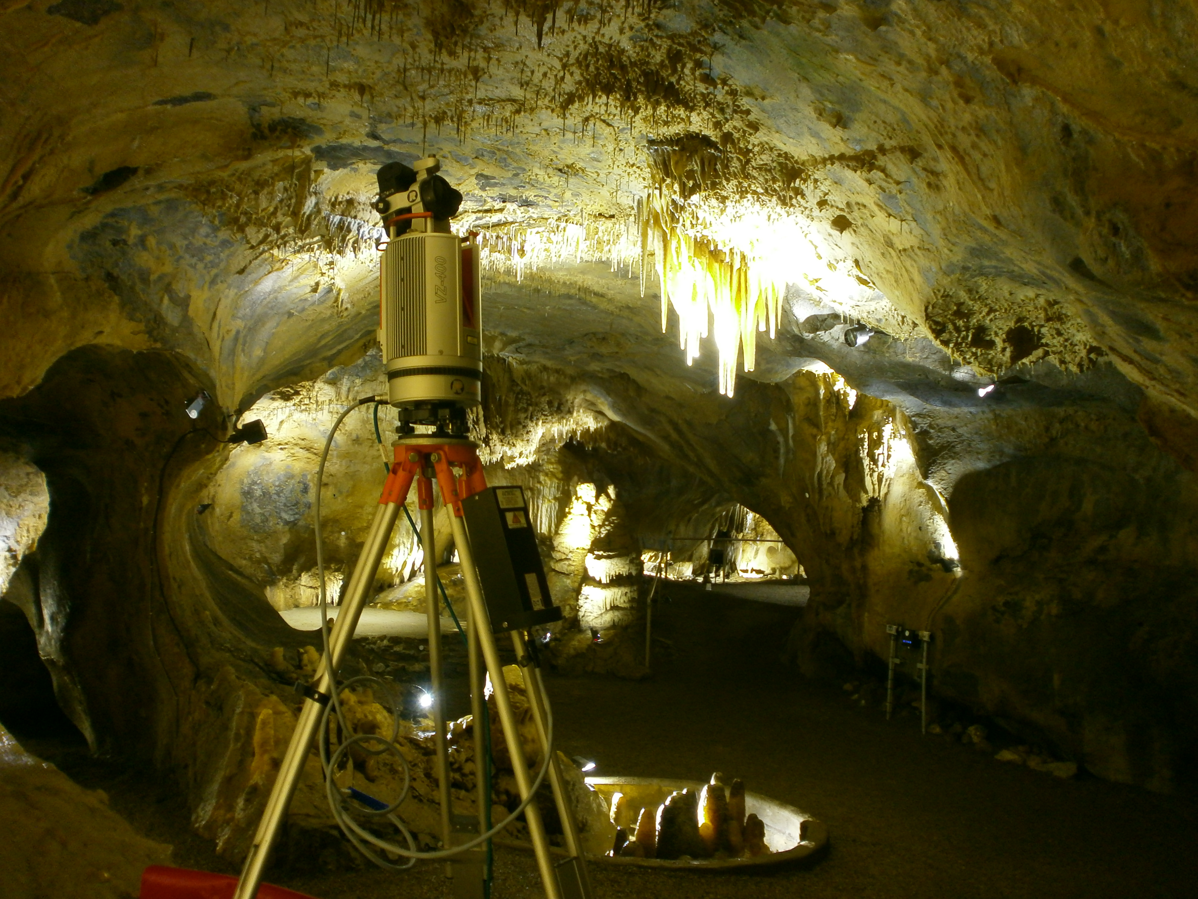 """Objects in the """"Pulpit Grotto"""" are captured with terrestrial laser scanning."""