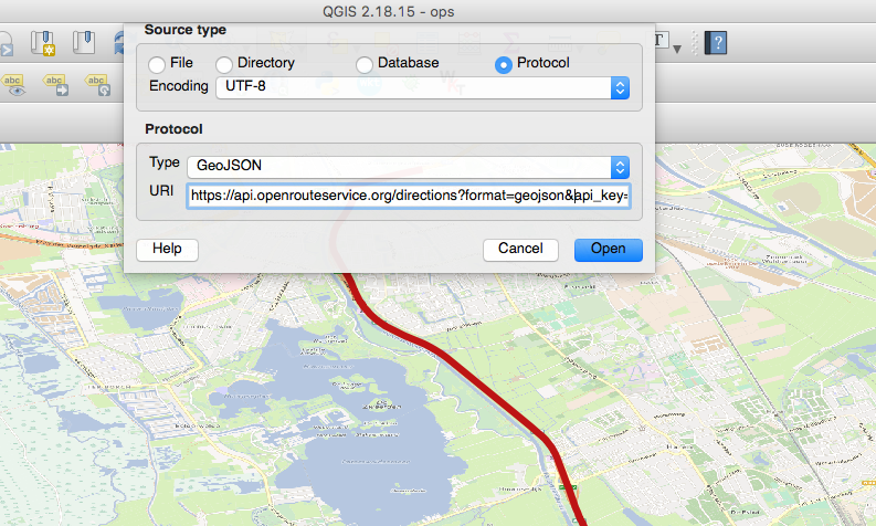 Consuming the ORS API via QGIS