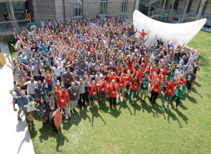Group picture of attendees of SotM 2018.