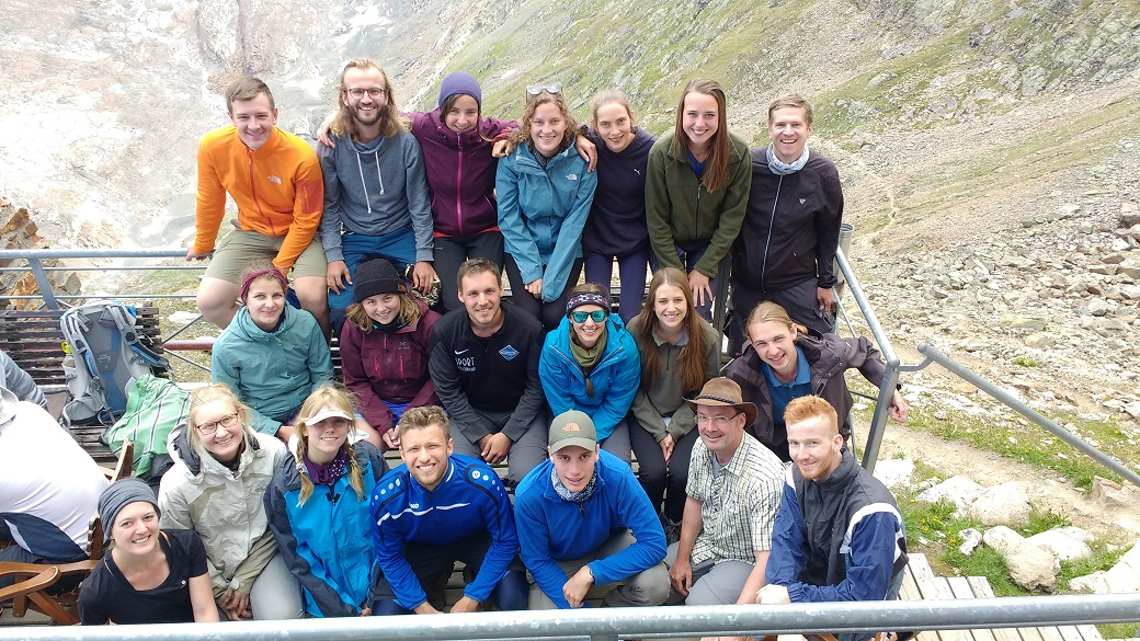 Group photo of field course to Obergurgl 2018