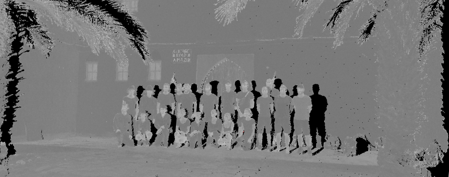 3D point cloud of the whole group.