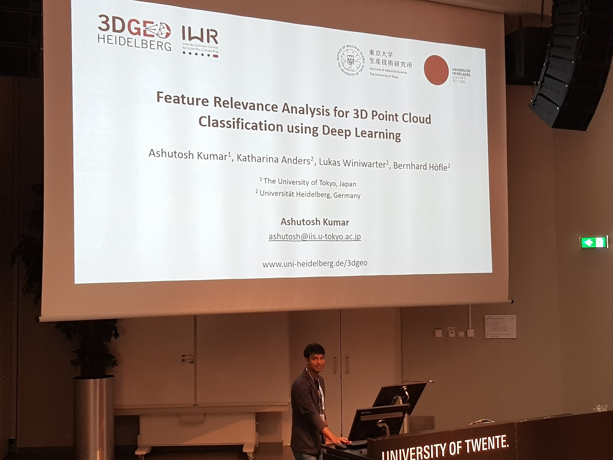 Presentation by Ashutosh Kumar in the Machine Learning Session