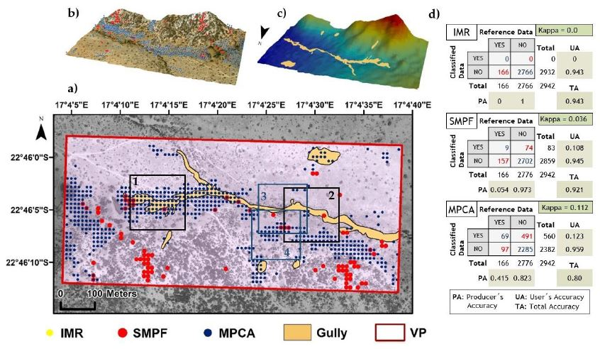 Comparison of Three Algorithms for the Evaluation of TanDEM-X Data for Gully Detection in Krumhuk Farm (Namibia)