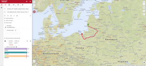 Routing between Lithuania and Poland whilst avoiding controlled borders