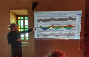 Presenting results of geophysical measurements