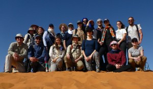 Group of students and lecturers of the field course