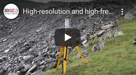 Video on research of 3DGeo on change analysis methods at an active rock glacier