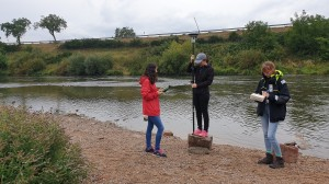 GNSS measurements at the gravel bar