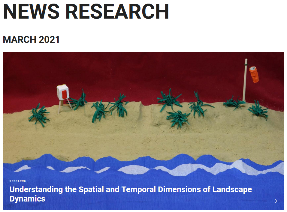 Press release: Understanding the Spatial and Temporal Dimensions of Landscape Dynamics