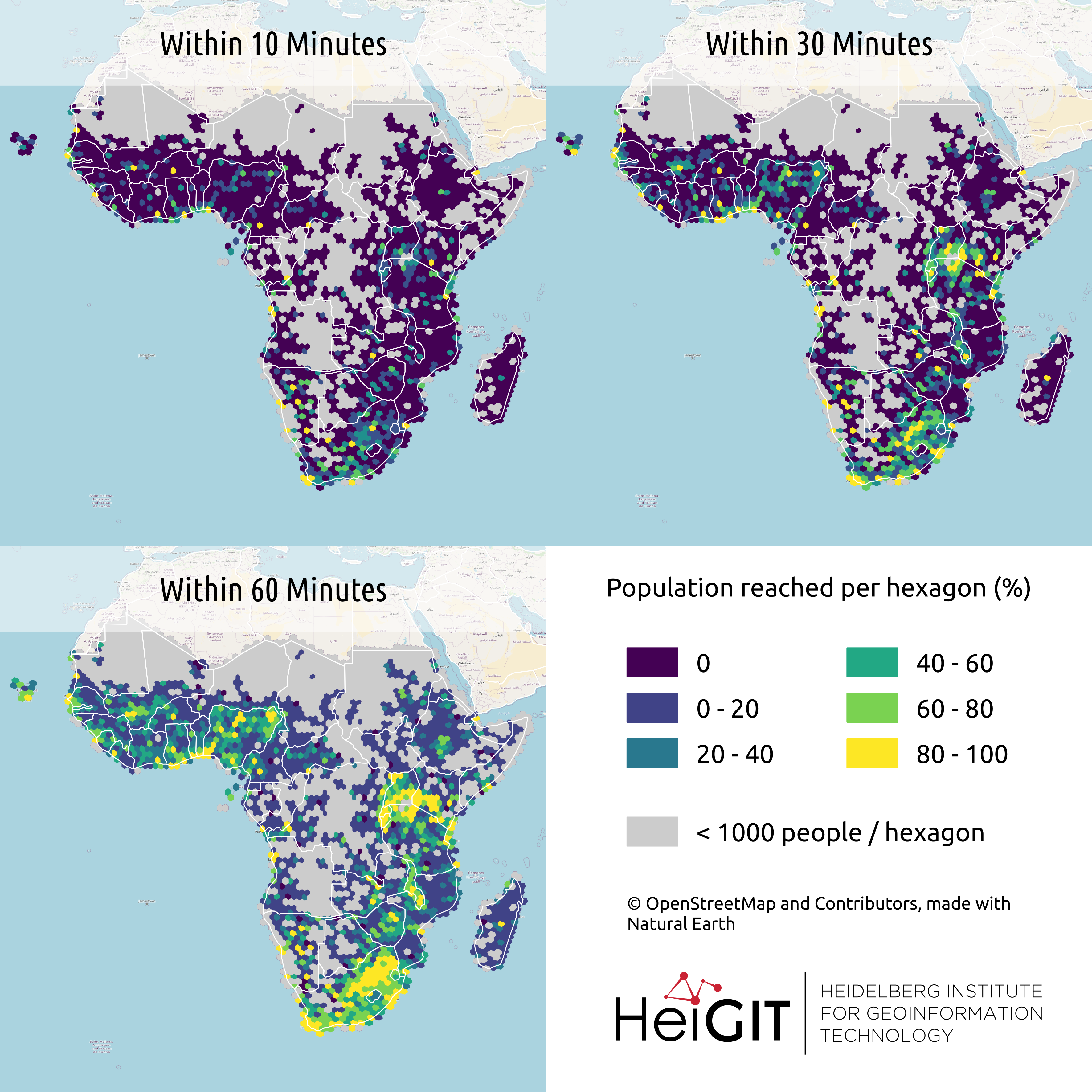 All countries of Sub-Saharan Africa now in Open Healthcare Access Map